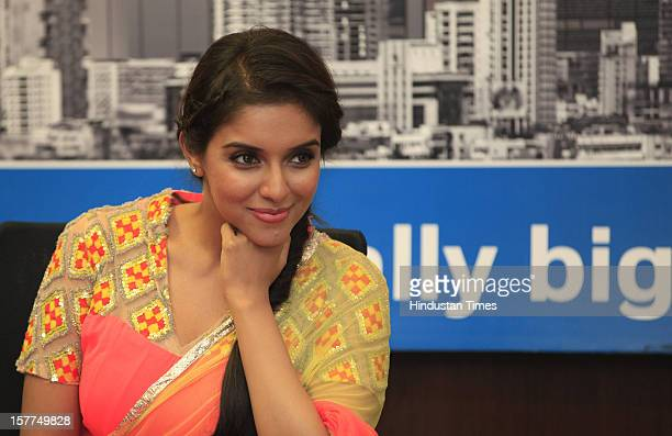 Indian bollywood actress Asin during the promotion of her upcoming film 'Khiladi 786' at HT Mahim office on November 30 2012 in Mumbai India The film...