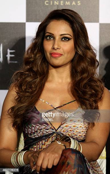 Indian Bollywood actress Bipasha Basu looks on during a promotional event for the forthcoming Hindi film 'Alone' directed by Bhushan Patel in Mumbai...