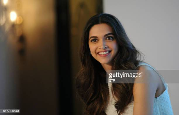 Indian Bollywood actress Deepika Padukone attends the launch of Axis Bank Indias mobile banking app in Mumbai on September 11 2015 AFP PHOTO