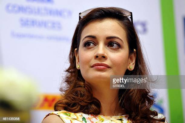 Indian Bollywood actress Dia Mirza attends a press conference for the forthcoming Mumbai Marathon and charity fund in Mumbai on January 12 2015 AFP...