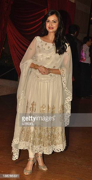 Indian Bollywood actress Dia Mirza attends the wedding reception of actors Ritesh Deshmukh and Genelia D'Souza in Mumbai on February 4 2012 AFP...