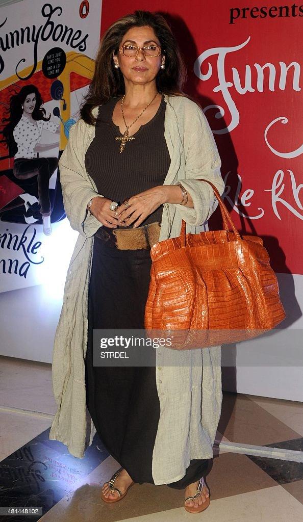 Indian Bollywood actress Dimple Kapadia poses for a photograph