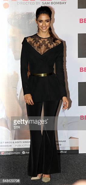Indian Bollywood actress Disha Patani poses during the launch of the single Hindi album 'Befikra' in Mumbai on June 28 2016 / AFP / STR