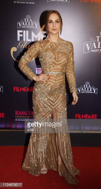 Indian Bollywood actress Elli Avram attends the Filmfare Glamour Style Awards ceremony in Mumbai on February 12 2019