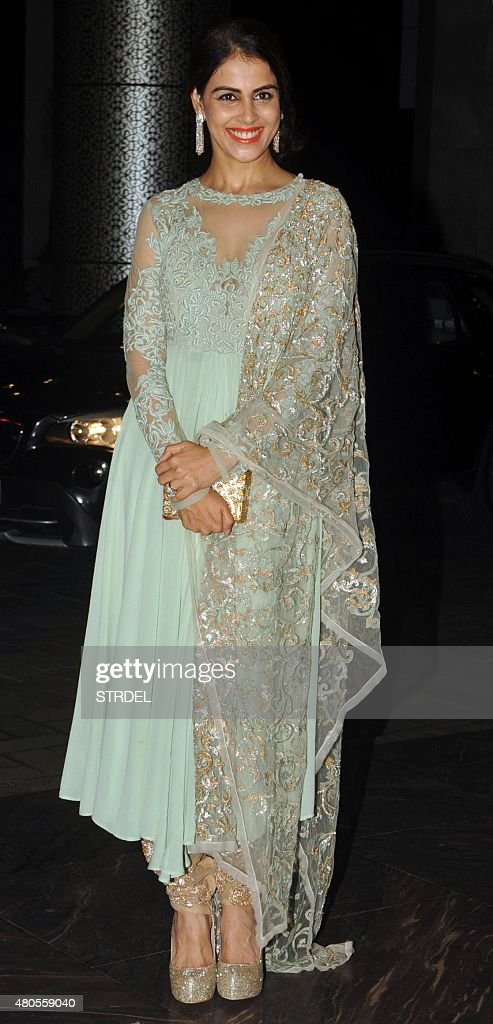 Indian Bollywood Actress Genelia Dsouza Arrives For The Wedding