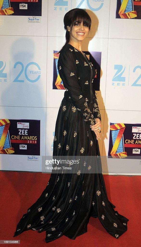 Indian bollywood actress Genelia D'Souza attending Zee Cine Awards 2013 at Yash Raj Studio on January 6, 2013 in Mumbai, India.