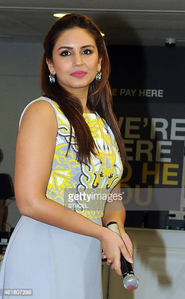 Indian Bollywood actress Huma Qureshi attends a calendar launch event in Mumbai on January 19 2015 AFP PHOTO/STR