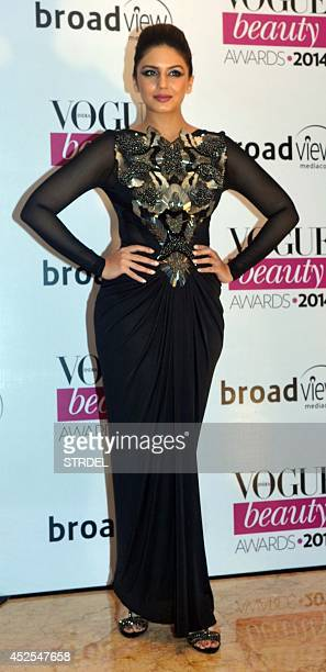 Indian Bollywood actress Huma Qureshi attends the 2014 Vogue Beauty Awards in Mumbai on July 22 2014 AFP PHOTO/STR