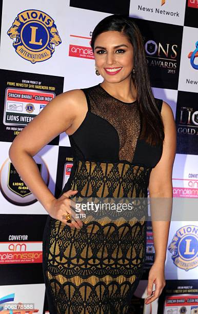 Indian Bollywood actress Huma Qureshi attends the 22nd Sol Lions Gold Awards 2016 in Mumbai on January 22 2016 AFP PHOTO / AFP / STR