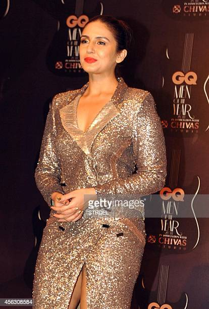 Indian Bollywood actress Huma Qureshi attends the GQ India Men of the Year Awards 2014 ceremony in Mumbai on September 28 2014 AFP PHOTO/STR