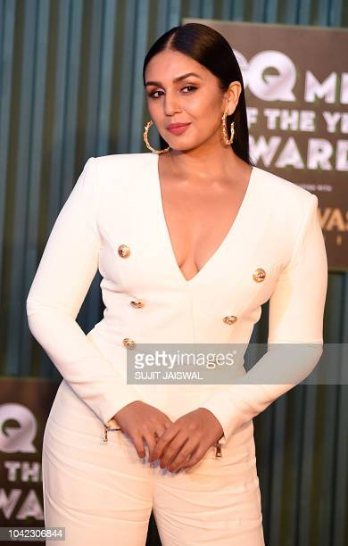 Indian Bollywood actress Huma Qureshi attends the 'GQ Men of the year Awards' ceremony in Mumbai on September 27 2018
