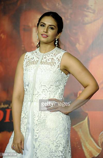 Indian Bollywood actress Huma Qureshi attends the song launch of 'Dillagi' directed by Kiran Deohans in Mumbai on June 8 2016 / AFP / STR