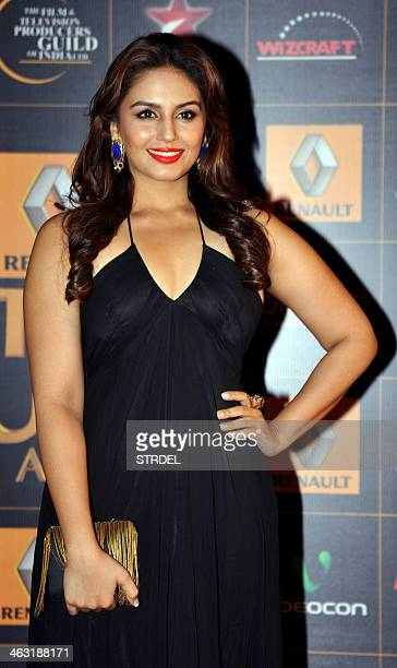 Indian Bollywood actress Humaa Qureshi poses for a photograph during the Renault Star Guild Awards ceremony in Mumbai on late January 16 2014 AFP...