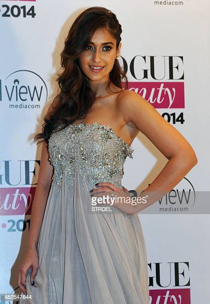 Indian Bollywood actress Ileana D'Cruz attends the 2014 Vogue Beauty Awards in Mumbai on July 22 2014 AFP PHOTO/STR