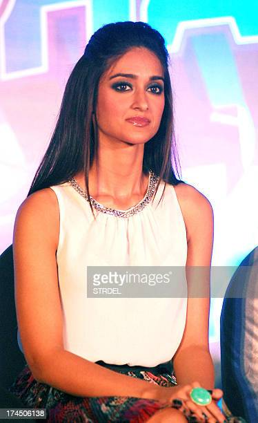 Indian Bollywood actress Ileana Dcruz looks on during the press meet for the promotion of upcoming Hindi romantic comedy Phata Poster Nikhla Hero in...