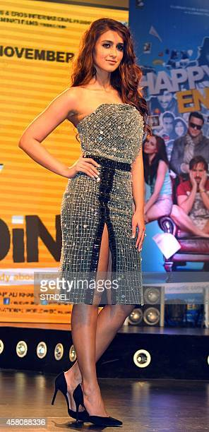 Indian Bollywood actress Ileana D'Cruz poses during the music launch of their upcoming Hindi film Happy Ending in Mumbai on October 29 2014 AFP...