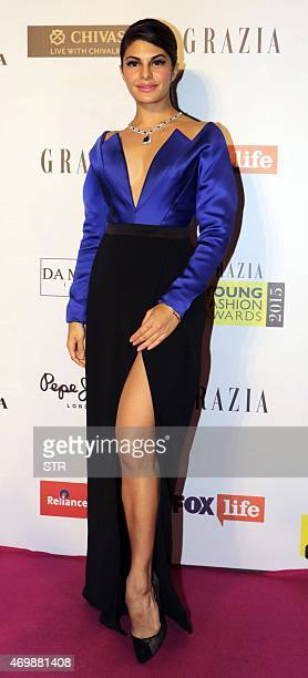 Indian Bollywood actress Jacqueline Fernandez attends the 'Grazia Young Fashion Awards 2015' ceremony in Mumbai on April 15 2015 AFP PHOTO