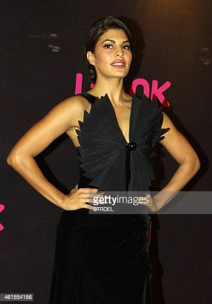 Indian Bollywood actress Jacqueline Fernandez attends the 'Life OK Screen Awards 2015' in Mumbai on January 14 2015 AFP PHOTO/STR