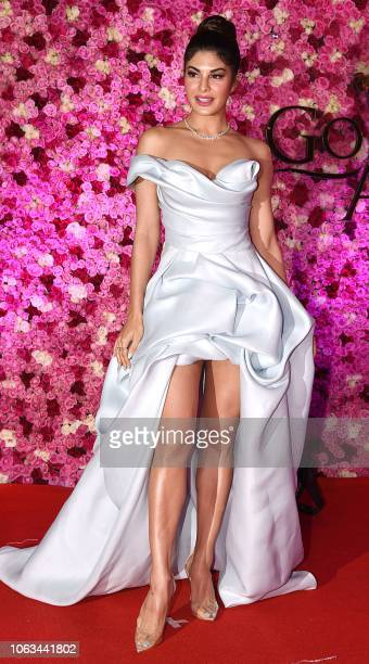 Indian Bollywood actress Jacqueline Fernandez attends the Lux Golden Rose Awards ceremony in Mumbai on November 18 2018