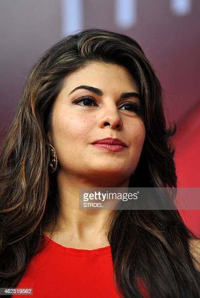 Indian Bollywood actress Jacqueline Fernandez poses for a photograph during a promotional event in Mumbai on January 30 2015 AFP PHOTO / STR