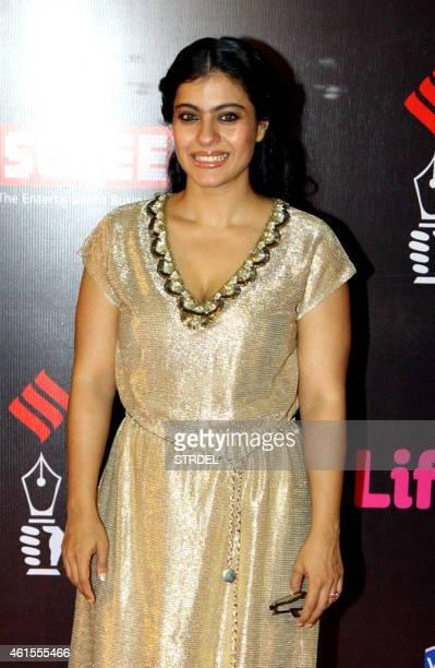 Indian Bollywood actress Kajol Devgan attends the 'Life OK Screen Awards 2015' in Mumbai on January 14 2015 AFP PHOTO/STR