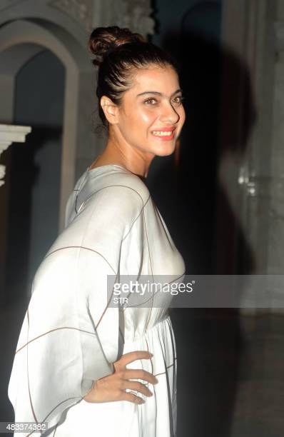 Indian Bollywood actress Kajol Devgan attends the new play Courtroom Comedy in Mumbai on August 7 2015 AFP PHOTO