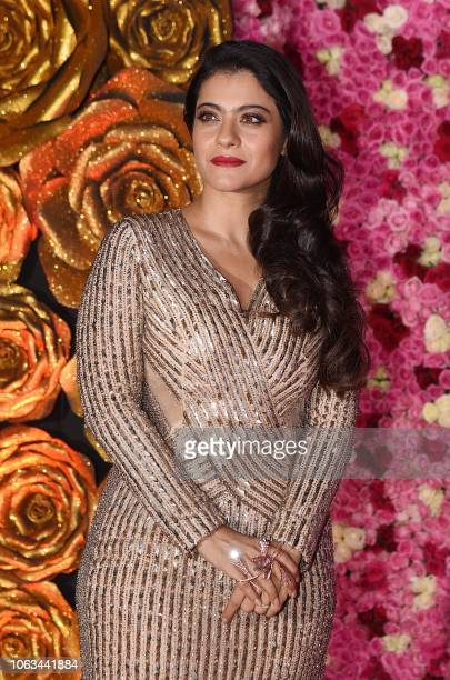 Indian Bollywood actress Kajol Devgn attends the Lux Golden Rose Awards ceremony in Mumbai on November 18, 2018.