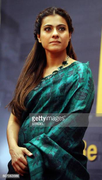 Indian Bollywood actress Kajol Devgn looks on during a promotional event in Mumbai on January 27 2016 AFP PHOTO / STR / AFP / STRDEL