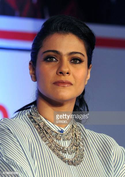 Indian Bollywood actress Kajol Devgn poses as she attends a press conference for the campaign Help A Child Reach 5 in Mumbai on March 19 2014 AFP...