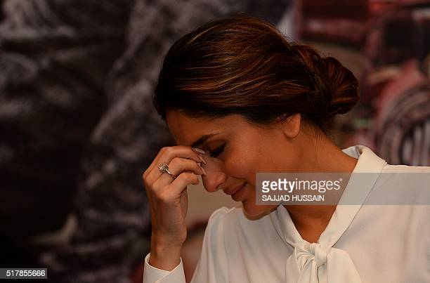 Indian Bollywood actress Kareena Kapoor Khan attends an event to promote the upcoming Hindi movie Ki Ka in New Delhi on March 28 2016 / AFP / SAJJAD...
