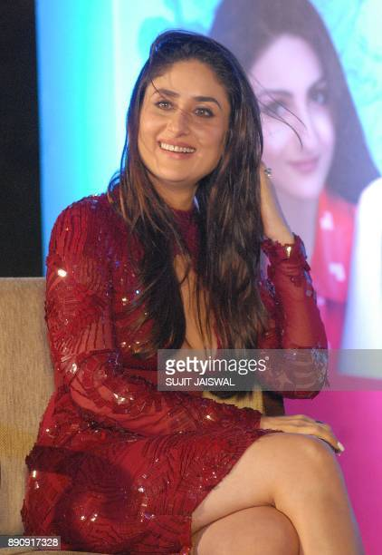 Indian Bollywood actress Kareena Kapoor Khan attends the debut of the book 'The Perils of Being Moderately Famous' in Mumbai on December 12 2017 /...