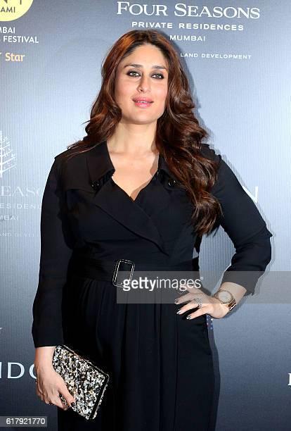Indian Bollywood actress Kareena Kapoor Khan attends the Jio MAMI 18th Mumbai Film Festival in Mumbai on October 24 2016 / AFP /