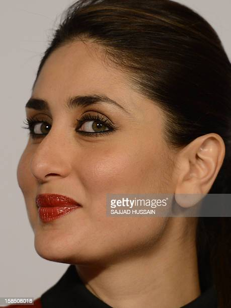 Indian Bollywood actress Kareena Kapoor Khan looks on during a press conference ahead of the 58th Idea Filmfare Awards to be held January next year...