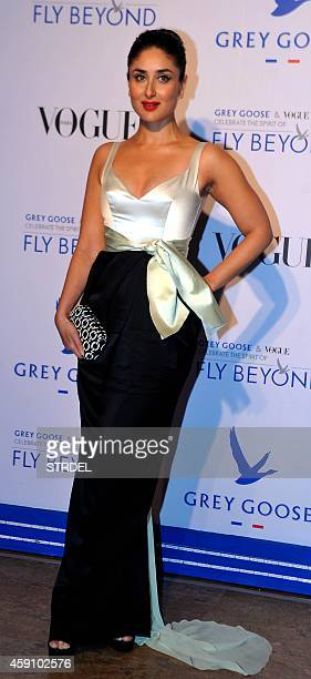 Indian Bollywood actress Kareena Kapoor Khan poses during the Grey Goose Fly Beyond Awards ceremony in Mumbai late November 16 2014 AFP PHOTO/STR