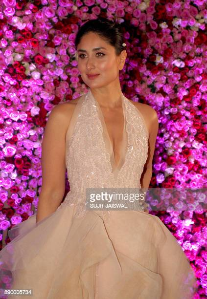 Indian Bollywood actress Kareena Kapoor Khan poses for a photograph during a promotional event in Mumbai on late December 10 2017 / AFP PHOTO / Sujit...