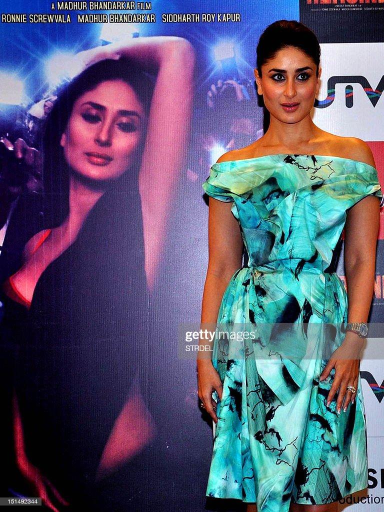 indian bollywood actress kareena kapoor poses during a promotional