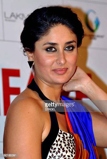 Indian Bollywood actress Kareena Kapoor poses for a photo during the Launch of Filmfare magazine in Mumbai on September 9 2013 AFP PHOTO/ STR