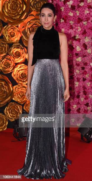 Indian Bollywood actress Karishma Kapoor attends the Lux Golden Rose Awards ceremony in Mumbai on November 18 2018