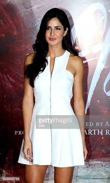 Indian Bollywood actress Katrina Kaif attends the trailer launch of upcoming Hindi film 'Fitoor' in Mumbai on January 4 2016 AFP PHOTO / AFP / STR