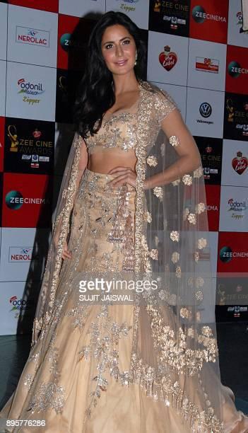 Indian Bollywood actress Katrina Kaif attends the 'Zee Cine Awards 2018' ceremony in Mumbai on December 19 2017 / AFP PHOTO / Sujit Jaiswal