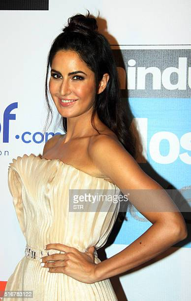 Indian Bollywood actress Katrina Kaif poses for a photograph during the 'HT Most Stylish Awards 2016' ceremony in Mumbai on late March 20 2016 / AFP...