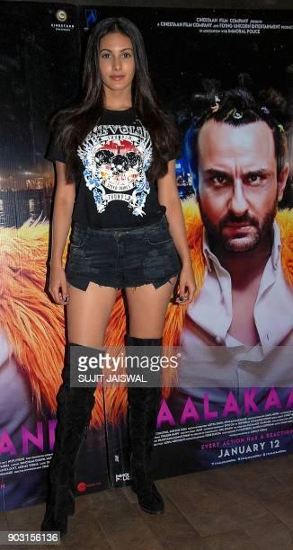 Indian Bollywood actress Kiara Advani attends the special screening of upcoming comedy Hindi film 'Kaalakaandi' in Mumbai on January 9 2018 / AFP...
