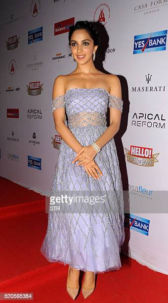 Indian Bollywood actress Kiara Advani poses as she attends the Hello Hall of Fame Awards 2016 in Mumbai late April 11 2016 / AFP / STR