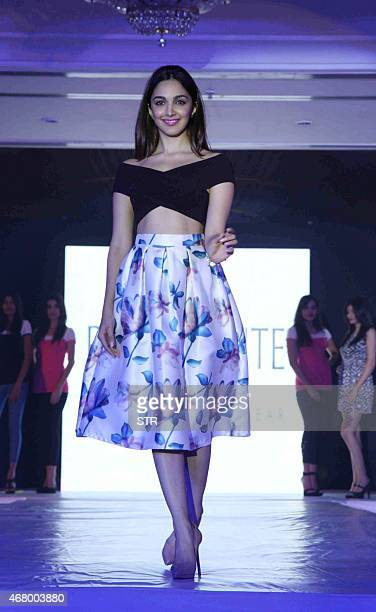 Indian Bollywood actress Kiara Advani poses during the launch of Italian Brand Bellafonte in Mumbai on March 28 2015 AFP PHOTO