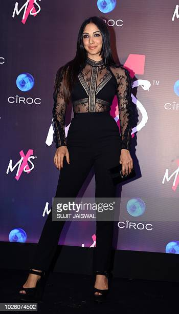 Indian Bollywood actress Kiara Advani poses during the store launch of the fashion label MXS in Mumbai on September 1 2018