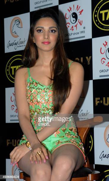 Indian Bollywood actress Kiara Advani poses for a photograph during a promotional event for the forthcoming Hindi film F*UGLY directed by Kabir...