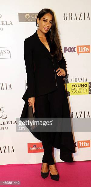 Indian Bollywood actress Lisa Haydon attends the 'Grazia Young Fashion Awards 2015' ceremony in Mumbai on April 15 2015 AFP PHOTO
