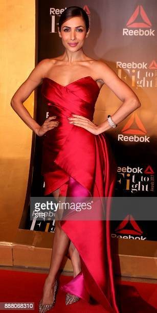 Indian Bollywood actress Malaika Arora attends the 'Fit To Fight Awards' ceremony in Mumbai on December 7 2017 / AFP PHOTO / STR