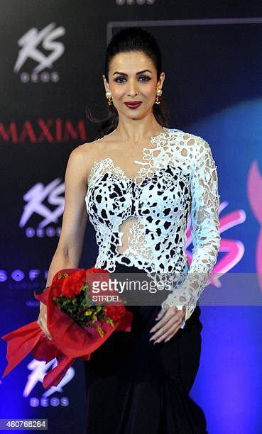 Indian Bollywood actress Malaika Arora Khan attends the 2015 Miss Maxim pageant event as a judge in Mumbai on December 21 2014 AFP PHOTO/STR