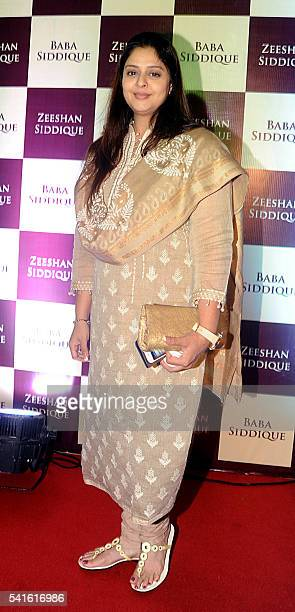 Indian Bollywood actress Nagma attends an Iftar party hosted by politician Baba Siddiqui during the Islamic holy month of Ramadan in Mumbai on June...